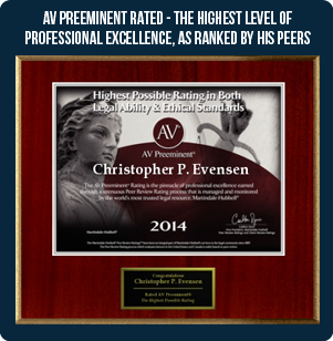 AV Preeminent Rated - The highest level of professional excellence, as ranked by his peers
